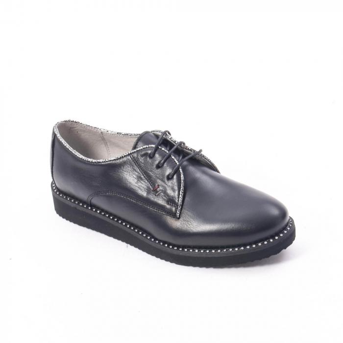 Pantofi casual dama, piele naturala Catali 171610 negru 0