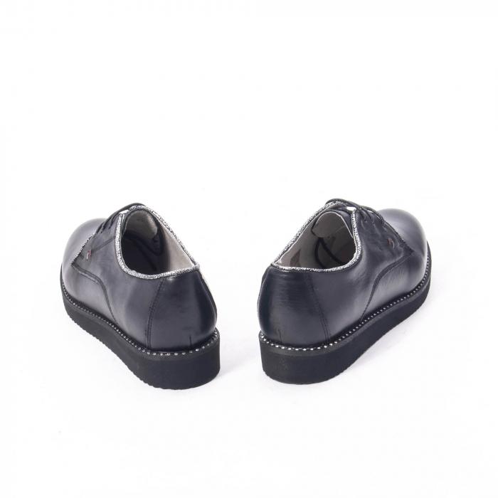 Pantofi casual dama, piele naturala Catali 171610 negru 6