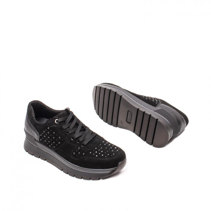 Pantofi dama casual, piele naturala intoarsa, IC608360 3