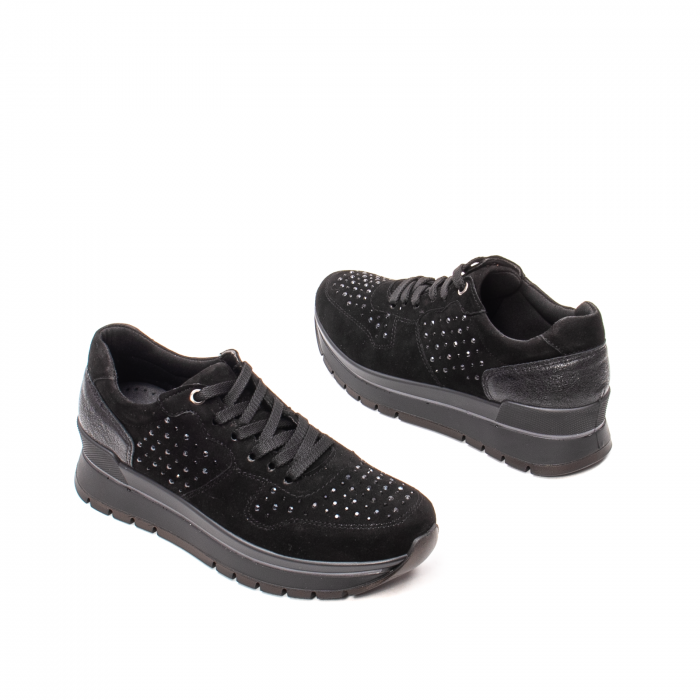 Pantofi dama casual, piele naturala intoarsa, IC608360 2