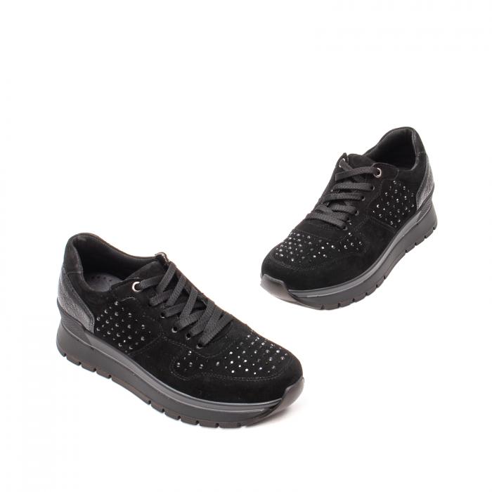 Pantofi dama casual, piele naturala intoarsa, IC608360 1
