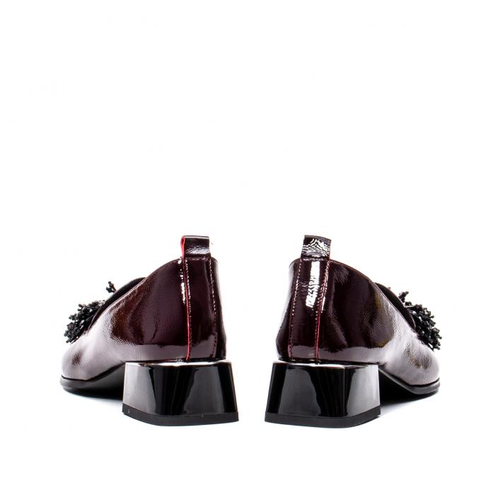 Pantofi casual dama, piele naturala lacuita, J7H551 B 6