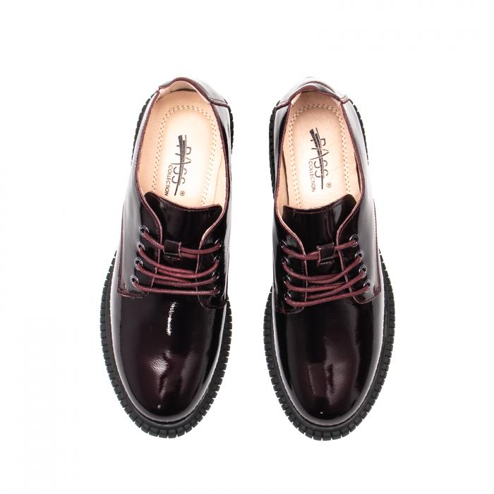 Pantofi dama casual, piele naturala lacuita, J8B21601 B 5