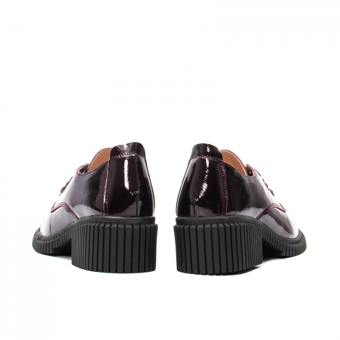 Pantofi dama casual, piele naturala lacuita, J8B21601 B 6