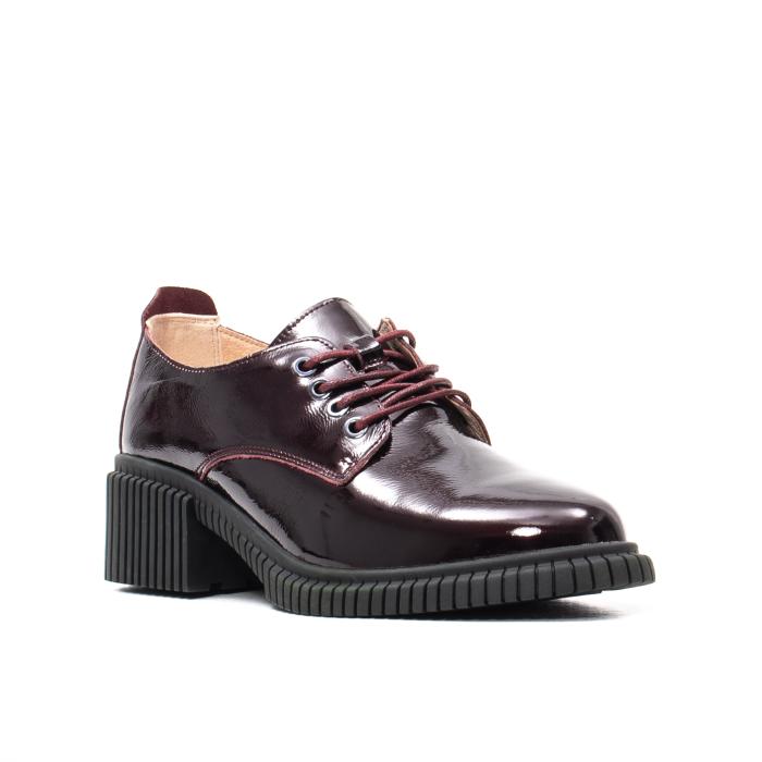 Pantofi dama casual, piele naturala lacuita, J8B21601 B 0