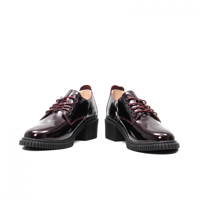 Pantofi dama casual, piele naturala lacuita, J8B21601 B 4