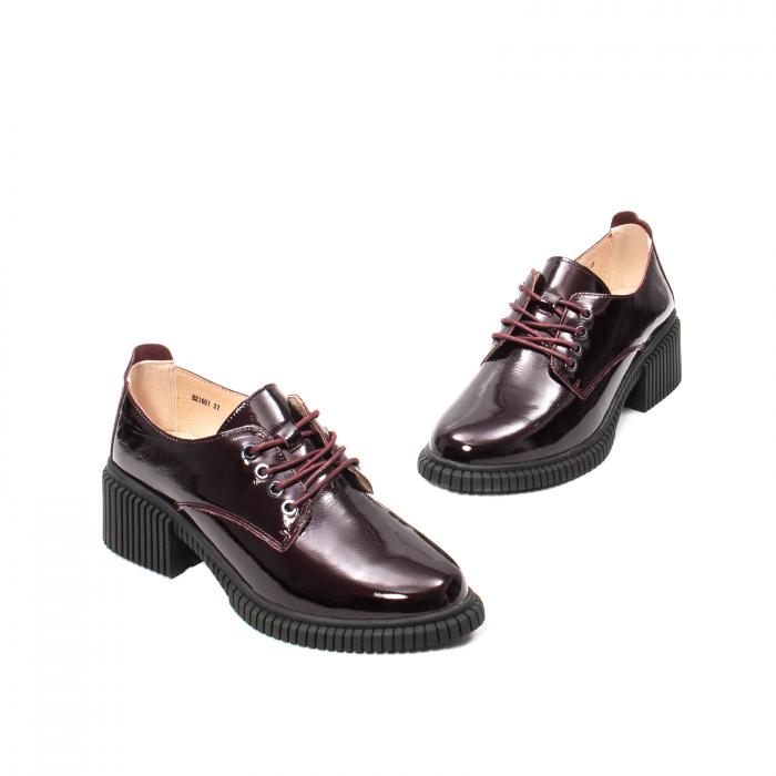 Pantofi dama casual, piele naturala lacuita, J8B21601 B 1