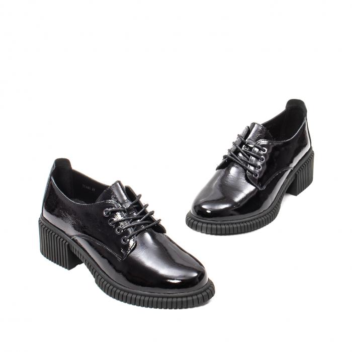 Pantofi dama casual, piele naturala lacuita, J8B21601 N 1