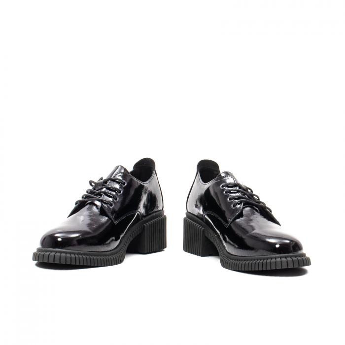 Pantofi dama casual, piele naturala lacuita, J8B21601 N 4