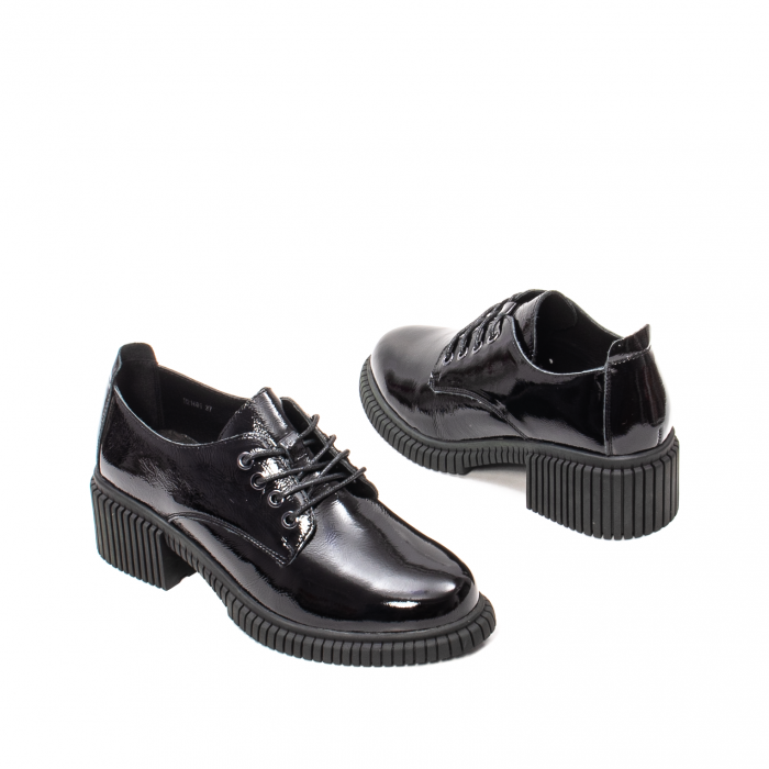 Pantofi dama casual, piele naturala lacuita, J8B21601 N 2