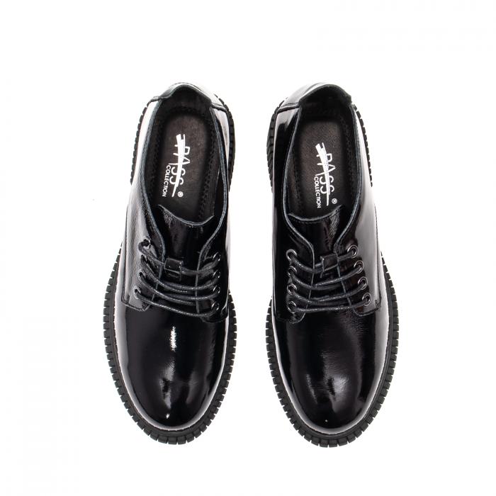 Pantofi dama casual, piele naturala lacuita, J8B21601 N 5