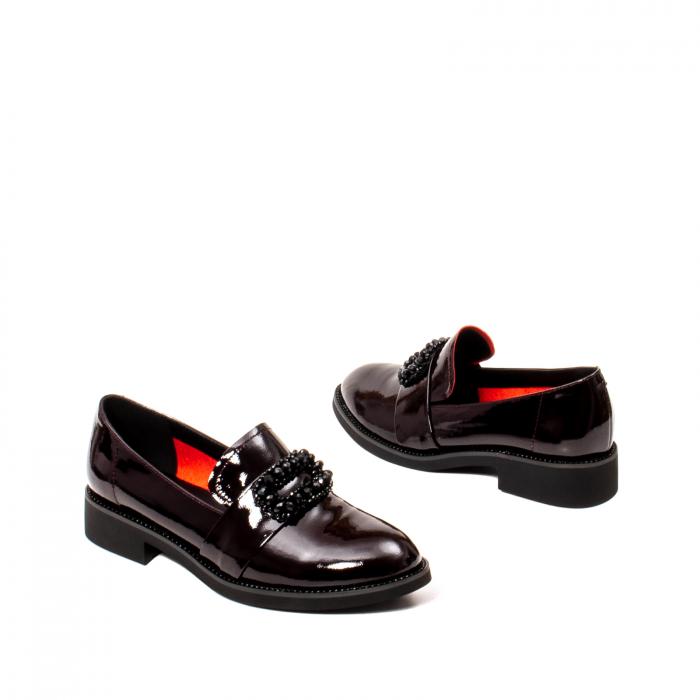 Pantofi casual dama, piele naturala lacuita, JIXS320 B 2