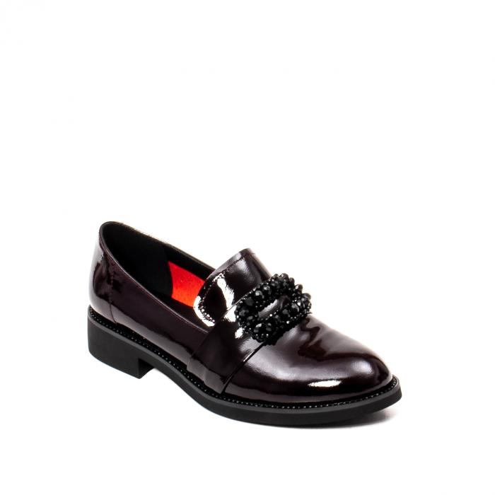 Pantofi casual dama, piele naturala lacuita, JIXS320 B 0