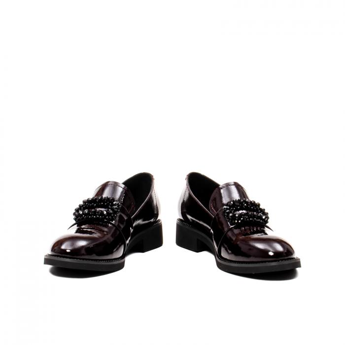 Pantofi casual dama, piele naturala lacuita, JIXS320 B 4