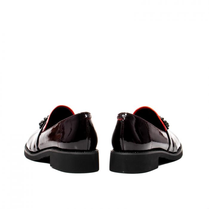 Pantofi casual dama, piele naturala lacuita, JIXS320 B 6