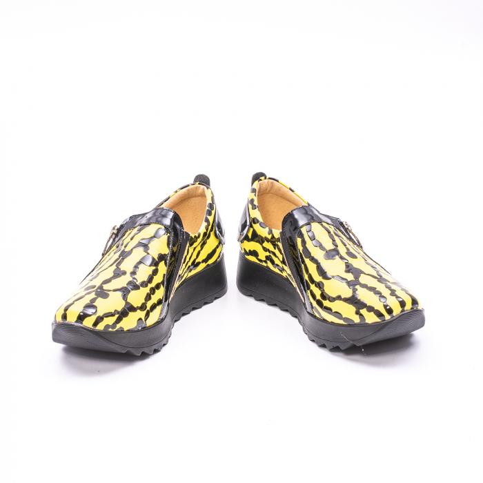 Pantofi casual dama piele naturala Nike Invest  340 galben/negru 4