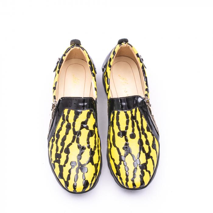 Pantofi casual dama piele naturala Nike Invest  340 galben/negru 5