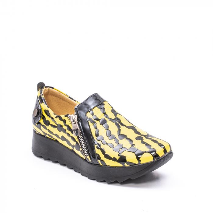 Pantofi casual dama piele naturala Nike Invest  340 galben/negru 0