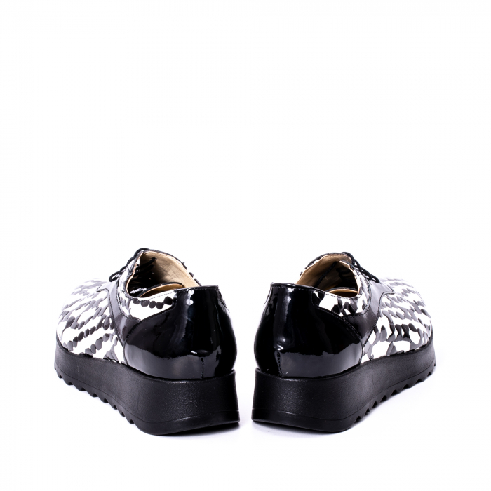 Pantofi casual dama piele naturala Nike Invest 346 alb-negru 6