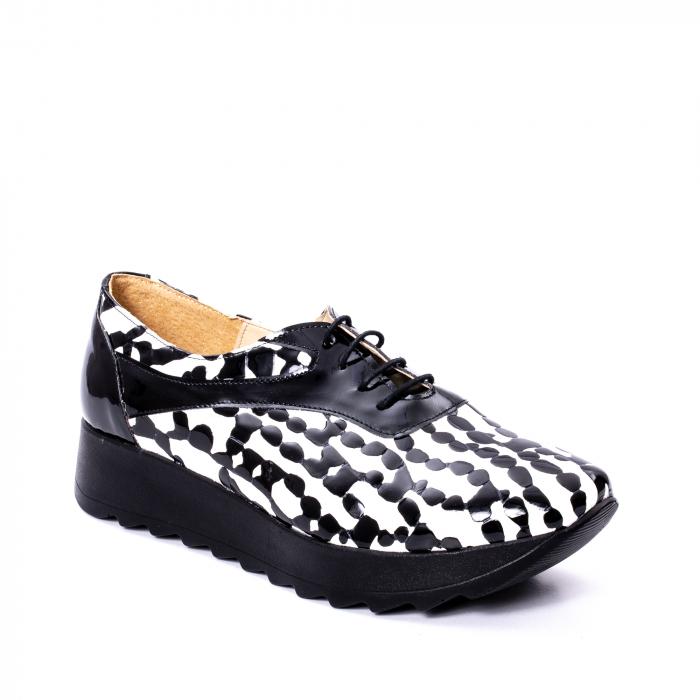 Pantofi casual dama piele naturala Nike Invest 346 alb-negru 0