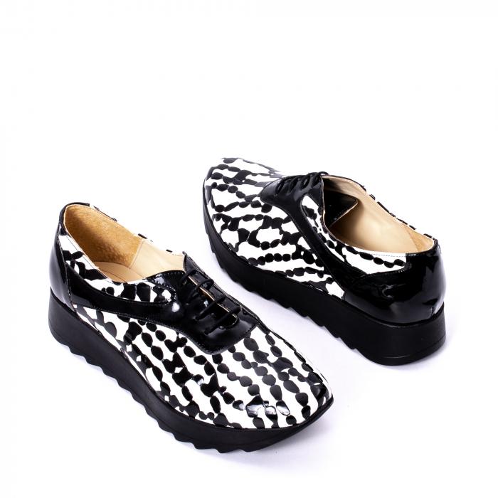 Pantofi casual dama piele naturala Nike Invest 346 alb-negru 2