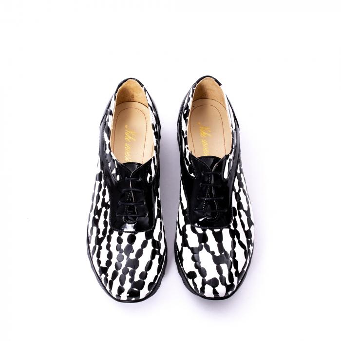 Pantofi casual dama piele naturala Nike Invest 346 alb-negru 5