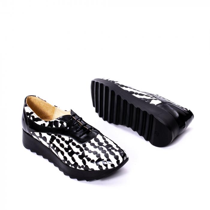 Pantofi casual dama piele naturala Nike Invest 346 alb-negru 3