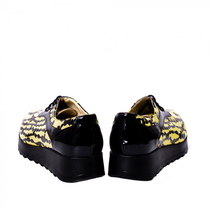 Pantofi casual dama piele naturala Nike Invest 346, galben/negru 6