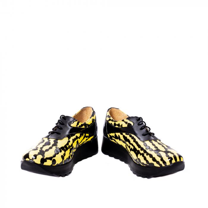 Pantofi casual dama piele naturala Nike Invest 346, galben/negru 4