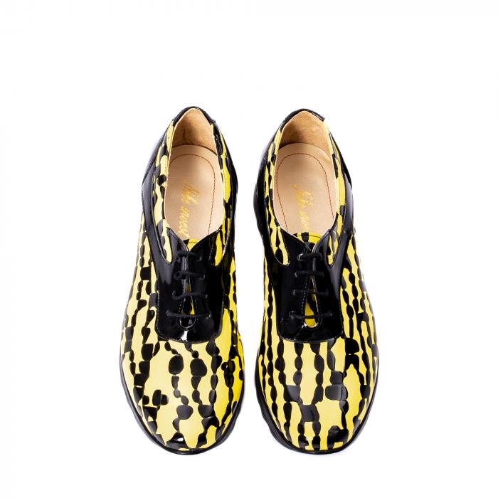 Pantofi casual dama piele naturala Nike Invest 346, galben/negru 5
