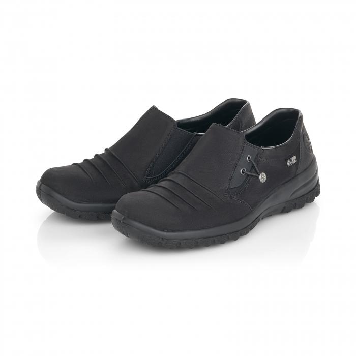 Pantofi casual dama, piele naturala nubuc, L7154-00 6