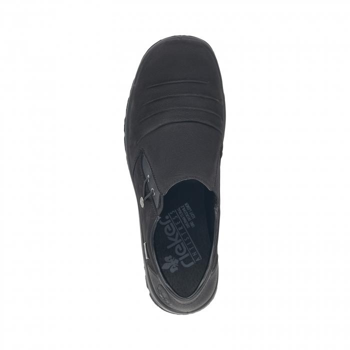 Pantofi casual dama, piele naturala nubuc, L7154-00 3