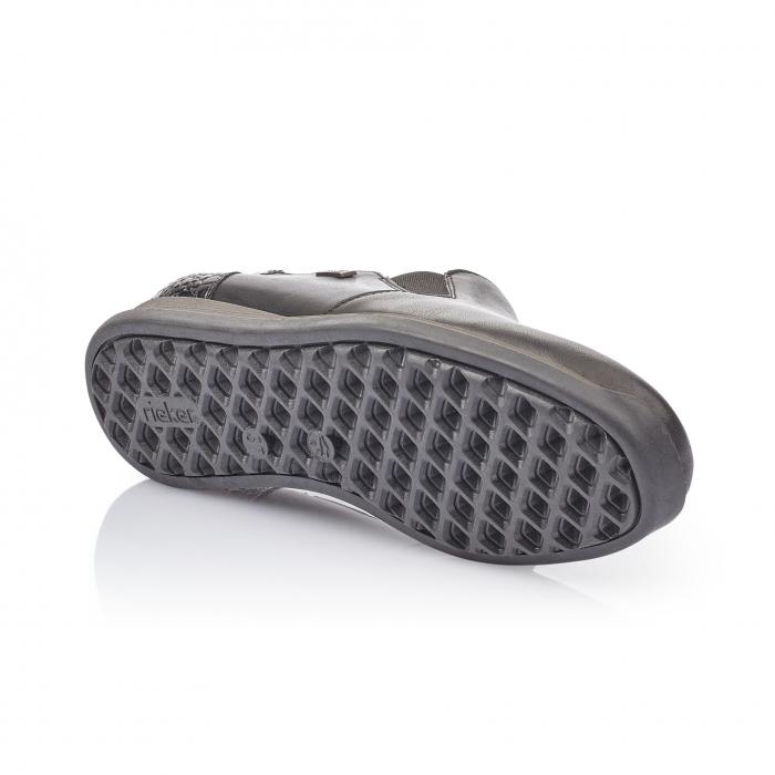 Pantofi casual dama, piele naturala Rieker 44264, negru 2