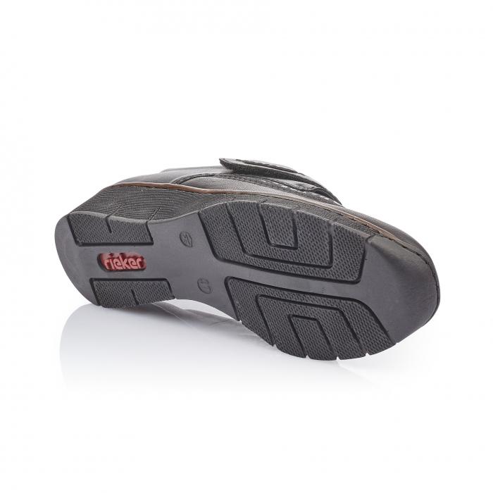 Pantofi casual dama piele naturala Rieker 537C0-00, negru 3