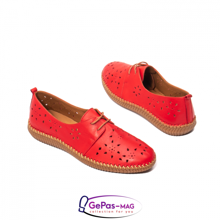 Pantofi casual dama, piele naturala, YX5235 R 2