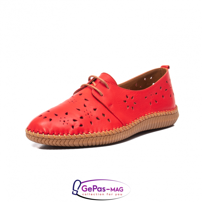 Pantofi casual dama, piele naturala, YX5235 R 0