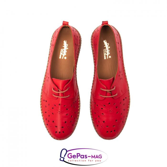 Pantofi casual dama, piele naturala, YX5235 R 5
