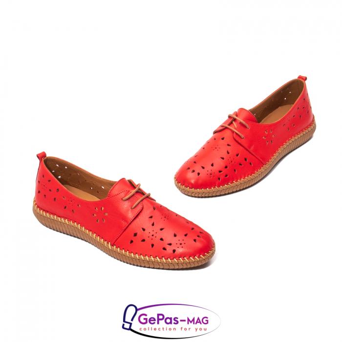 Pantofi casual dama, piele naturala, YX5235 R 1