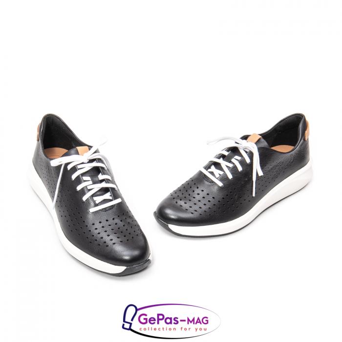 Pantofi casual dama, piele naturala Un Rio Tie CL2614 1