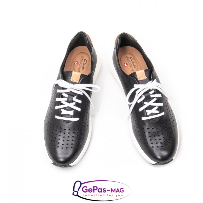 Pantofi casual dama, piele naturala Un Rio Tie CL2614 3