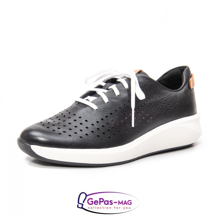 Pantofi casual dama, piele naturala Un Rio Tie CL2614 0