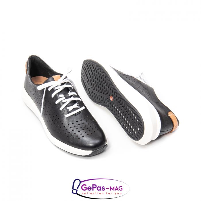 Pantofi casual dama, piele naturala Un Rio Tie CL2614 2