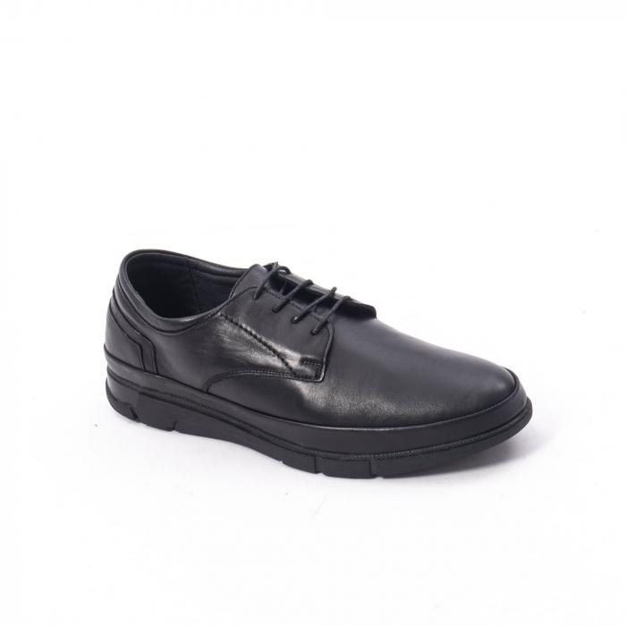 Pantofi casual de barbat din piele naturala, Catali 192550 negru 0