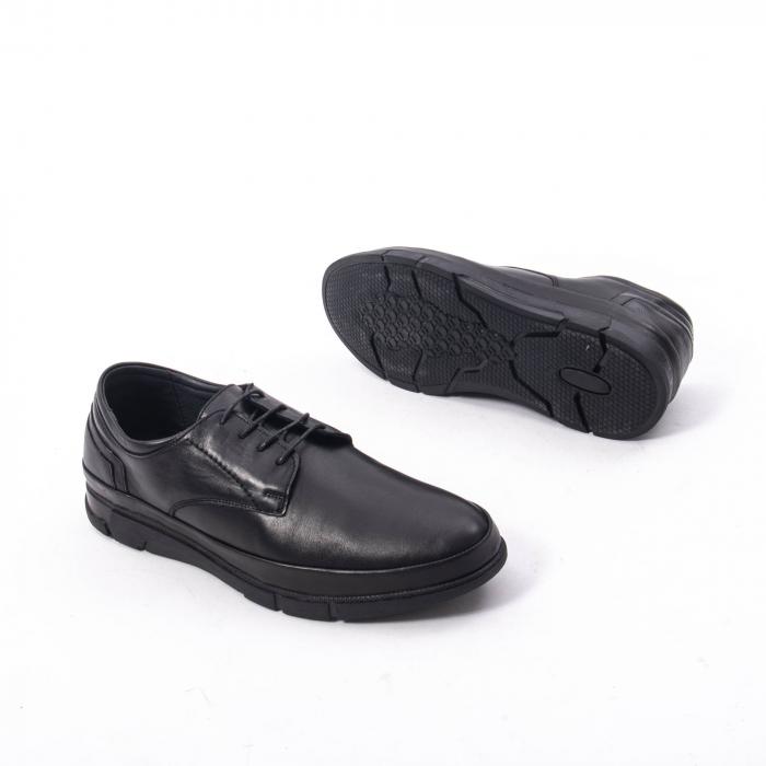Pantofi casual de barbat din piele naturala, Catali 192550 negru 2