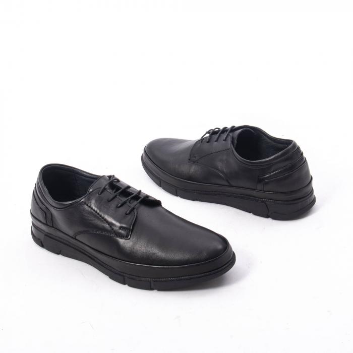 Pantofi casual de barbat din piele naturala, Catali 192550 negru 3