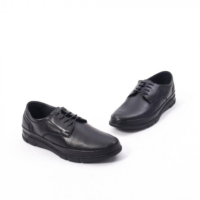 Pantofi casual de barbat din piele naturala, Catali 192550 negru 4
