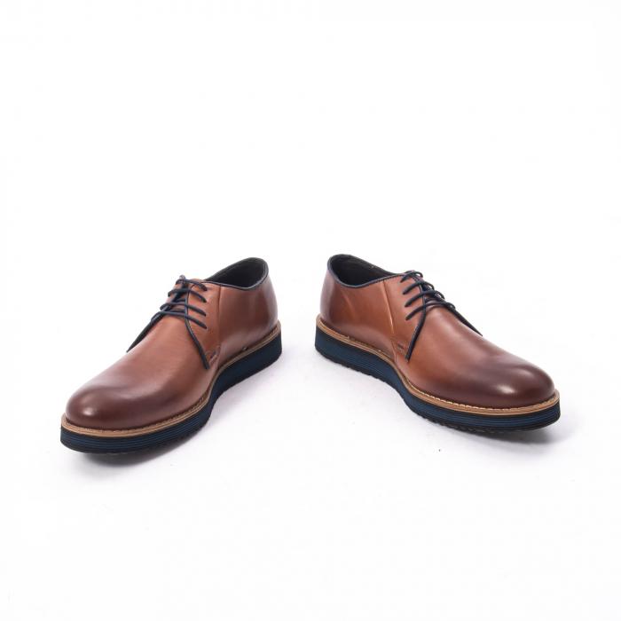 Pantofi casual barbati din piele naturala, Catali 505, coniac 1
