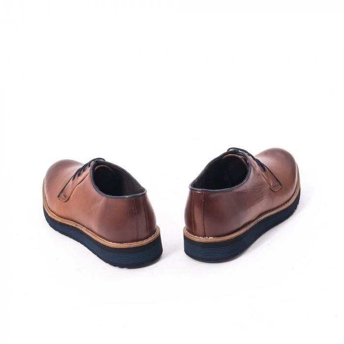 Pantofi casual barbati din piele naturala, Catali 505, coniac 4