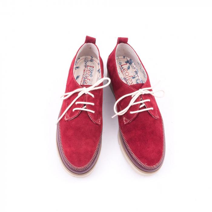 Pantofi casual LFX 198 visiniu velur. 5
