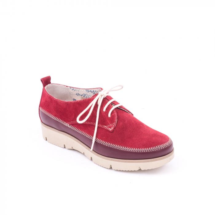 Pantofi casual LFX 198 visiniu velur. 0